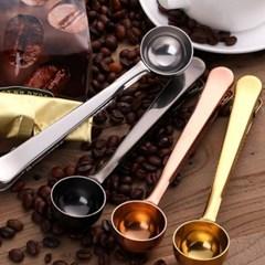 미니멀 커피스푼 집게클립 1개(색상랜덤)