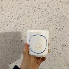 스마일 머그컵 (레드/블루)