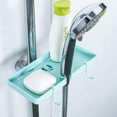 간편형 샤워 헤드 미니선반 1개(색상랜덤)