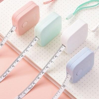 휴대용 사각 미니줄자 1개(색상랜덤)