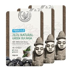 과일나라 제주자연의 녹차 마스크 3매