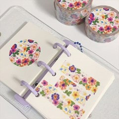 [소소로운]꽃의정원 마스킹테이프