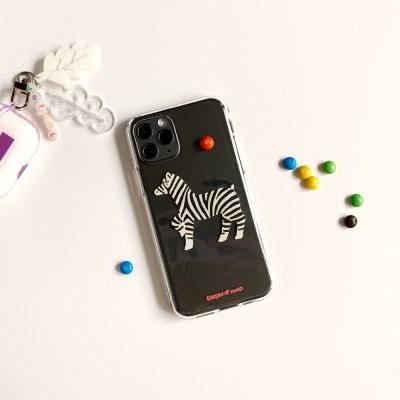 얼룩말 Zebra 투명젤리케이스_Clear Jelly Case
