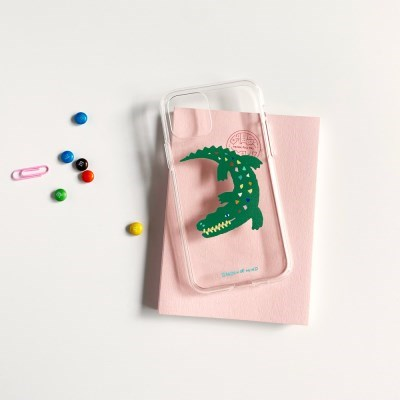 악어 Crocodile 투명젤리케이스_Clear Jelly Case