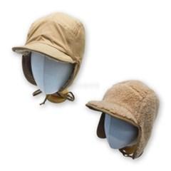 양면 양털 뽀글이 패팅 귀도리 버킷햇 벙거지 모자