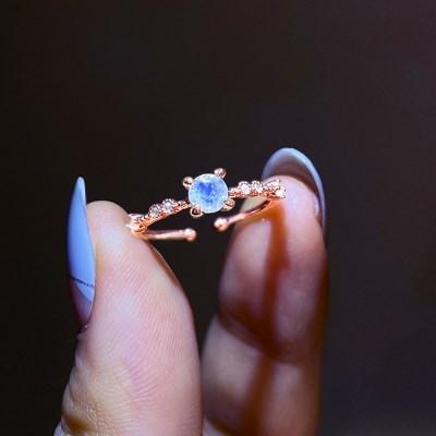 [윙블링][천연문스톤] 글래디스 문스톤 반지