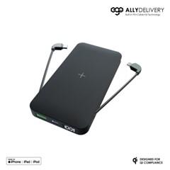 이고 얼라이딜리버리 4in1 애플 MFi 인증 빌트인 케이블 보조배터리