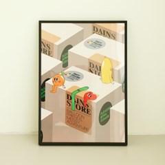 벌룬프렌즈 다인스스토어 포스터 - A4