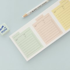Archiving memo pad _ check,grid