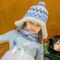 겨울모자 아동모자 겨울왕국2 화이트퀸 모자