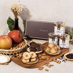 [농사랑]애플 복애플 쿠키 6종 세트(80g x 3)