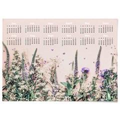 2021 패브릭 천 벽 달력 보타니컬 아트 포스터 들꽃
