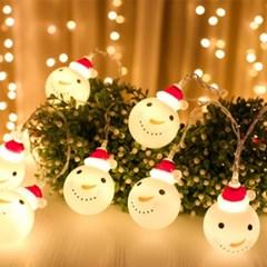 크리스마스 가랜드 눈사람 LED조명_(1278199)