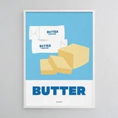 버터 M 유니크 인테리어 디자인 포스터 카페 베이커리 디저트