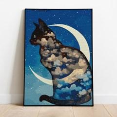 명화그리기 달과 고양이 피포페인팅 유화그림