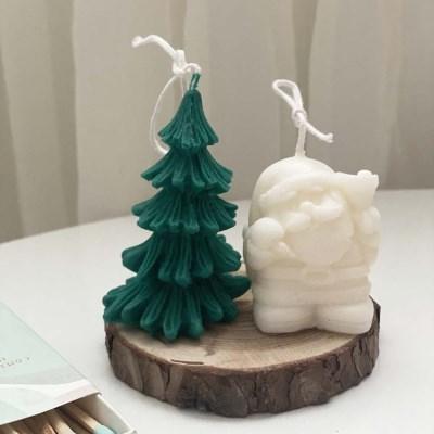 크리스마스 트리 + 산타 + 우드코스터 세트상품(선물포장)