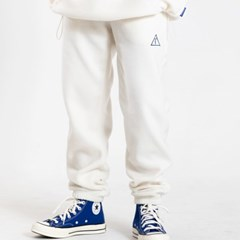 25P UNISEX FLEECE JOGGER PANTS_cream [플리스 조거팬