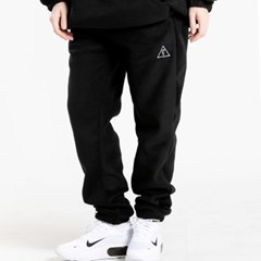 25P UNISEX FLEECE JOGGER PANTS_black [플리스 조거팬