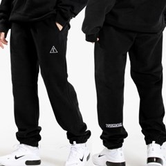 [양기모] 25P UNISEX LOGO POINT SWEAT JOGGER PANTS_bl