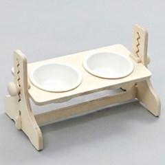 힐링타임 높이조절 원목식탁-2구 (도자기/화이트) sj