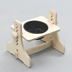 힐링타임 높이조절 원목식탁-1구 (도자기/블랙) sj