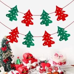 크리스마스 트리 펠트 가랜드 (1set)
