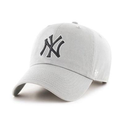 47브랜드 MLB모자 양키즈 그레이 네이비화이트빅로고