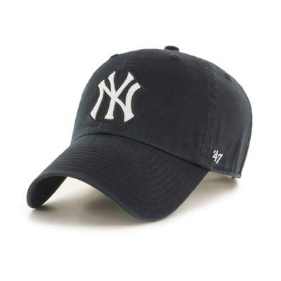 47브랜드 MLB모자 양키즈 블랙 화이트체인 빅로고