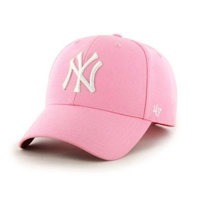 47브랜드 MLB모자 양키즈 핑크 화이트빅로고 스트럭처