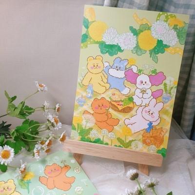 토끼풀 시리즈 일러스트 포스터