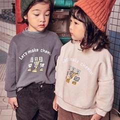 츄) cheese 아동 기모 맨투맨