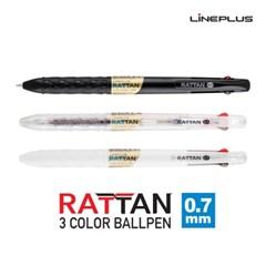 [라인플러스]라탄3색 유성펜 0.7mm_(12732915)