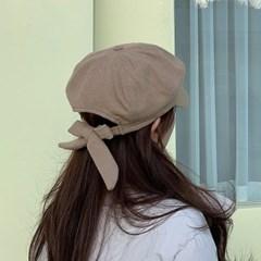 리본 팔각모 빵모자 여자 헌팅캡 3color