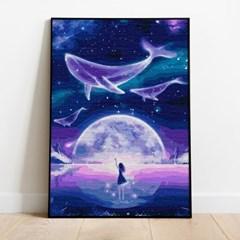 명화그리기 고래의 꿈 피포페인팅 유화그림 DIY