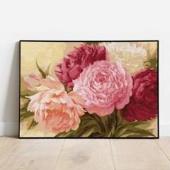 명화그리기 만개한 모란꽃 피포페인팅 유화그림 DIY