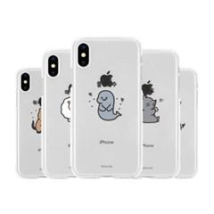 아이폰5 5S SE  귀염뽀짝 시즌3 투명 젤리 케이스