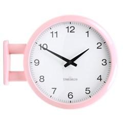 (ktk167)저소음 모던핑크 양면시계 A5_(1279587)