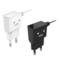 [엘레컴] 마이크로5핀 일체형 충전기 EK-C215 (2컬러)_(12732934)