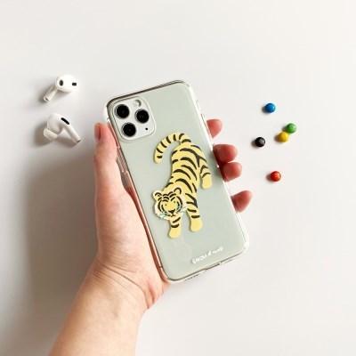 호랑이 Tiger 투명젤리케이스_Clear Jelly Case