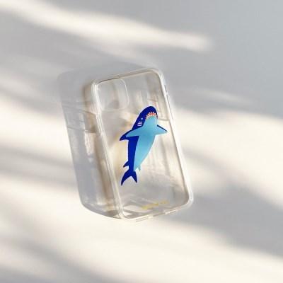 상어 Shark 투명젤리케이스_Clear Jelly Case