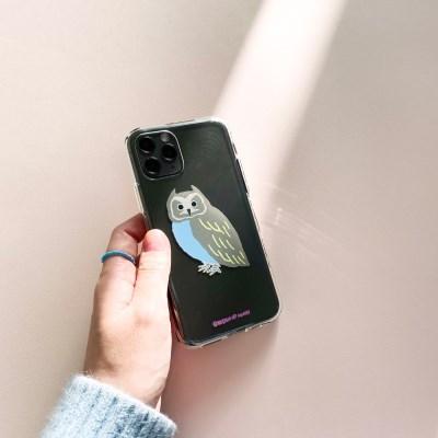부엉이 Owl 투명젤리케이스_Clear Jelly Case