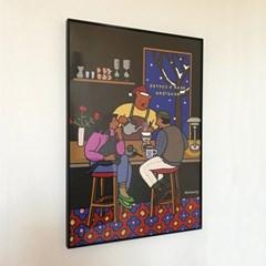 Bear's coffee roasters art print A3/A2