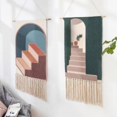패브릭 행잉 포스터 액자 배전함 가리개 인테리어 벽 장식 5type