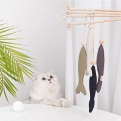 [제제코리아]zeze 캣닢 물고기인형 낚시대 고양이장난감