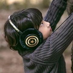 아동 귀도리 캡틴아메리카블랙 겨울 캐릭터 귀마개_(11613294)