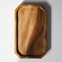 롬우드 원목 팔각 직쟁반 30cm_(1739090)