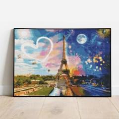 보석십자수 행운의 에펠탑 DIY 픽스아트 큐빅 비즈 취미