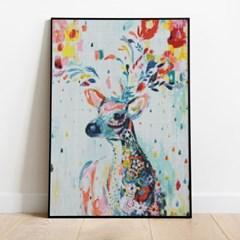보석십자수 행운 꽃 사슴 DIY 픽스아트 큐빅 비즈 취미
