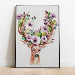 보석십자수 사슴과 꽃 DIY 픽스아트 큐빅 비즈 취미생활