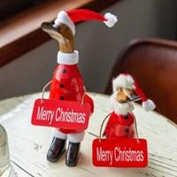 우드 크리스마스 오리산타 장식 (3size)_(2083474)